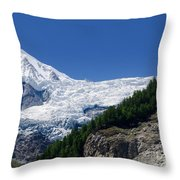 Snow Glacier Throw Pillow