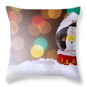 Snow Globe Throw Pillow