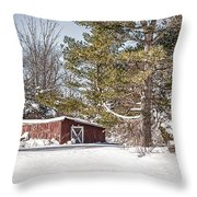 Snow In The Country Throw Pillow