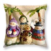 Snowbirds Throw Pillow