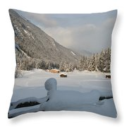 Snowed Under Throw Pillow