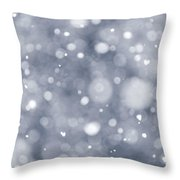 Snowfall  Throw Pillow by Elena Elisseeva