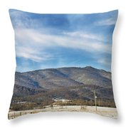 Snowy High Peak Mountain Throw Pillow
