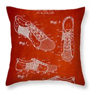 Soccershoe Patent From 1980 Throw Pillow