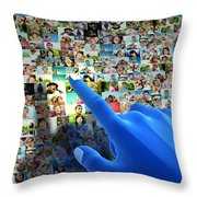 Social Media Network Throw Pillow