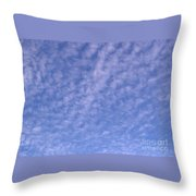 Soft Clouds In The Blue Sky Throw Pillow