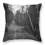 Solitude Forest Throw Pillow