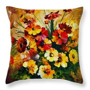 Songs Of My Heart Throw Pillow