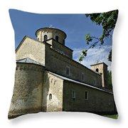 Sopocani Monastery Throw Pillow