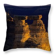 South Rim Grand Canyon Taken Near Mather Point Sunrise Light On  Throw Pillow