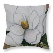 Southern Magnolia Throw Pillow