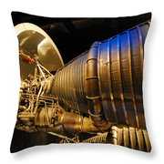 Space Rocket Thrust Engine Throw Pillow