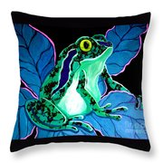 Speckled Frog Throw Pillow
