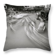 Swirling Motion Throw Pillow
