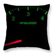 Speedometer On Black Isolated Throw Pillow