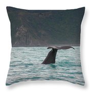 Sperm Whale Diving  Throw Pillow
