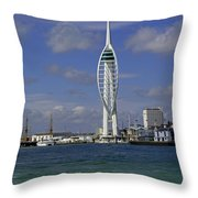 Spinnaker Tower Throw Pillow