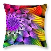 Spiral Swirls Throw Pillow