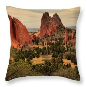 Spires In The Garden Throw Pillow