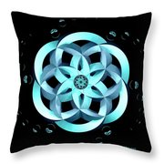 Spirit Of Water 1 - Blue With Water Drops Throw Pillow