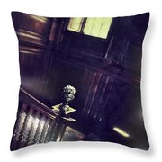 Spooky Stairway Throw Pillow
