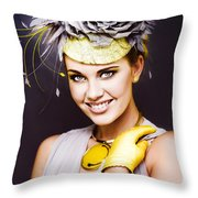 Spring Carnival Beauty Throw Pillow