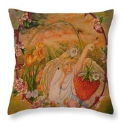 Spring Throw Pillow by Jacquelyn Roberts