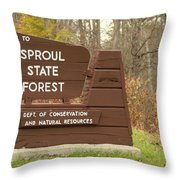 Sproul State Forest Throw Pillow