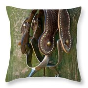 Spurs Throw Pillow