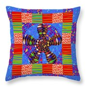 Squares Lines Dots Symbol Infinity Red Purple Blue Green Colorful Waves Unique Background Designs  A Throw Pillow