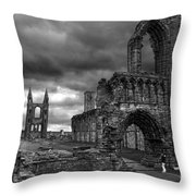 St Andrews Cathedral And Gravestones Throw Pillow