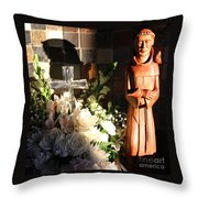 St. Francis Of Assisi By George Wood Throw Pillow