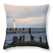 St. Ignace Light Throw Pillow