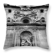 St Jeronimo Door Granada Cathedral Throw Pillow