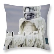 St. Joseph Pierhead Light Throw Pillow