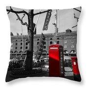 St Katherine's Dock Throw Pillow