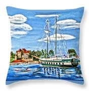St Lawrence Waterway 1000 Islands Throw Pillow