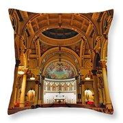 St. Leonard's Church....boston Throw Pillow