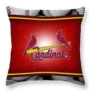 St Louis Cardinals Throw Pillow