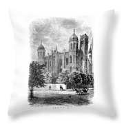 St. Louis High School - 1874 Throw Pillow