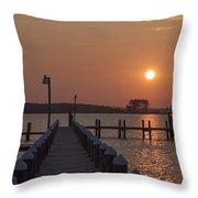 St Marys County Maryland Sunrise Throw Pillow