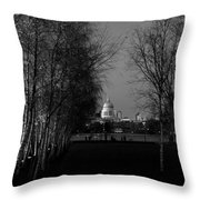 St Paul's With Silver Birches Throw Pillow