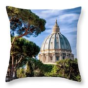 St Peters Basilica Dome Throw Pillow