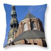 St. Peter's Church Riga Throw Pillow