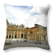 St. Peter's Square Throw Pillow