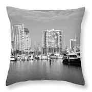 St Petersburg Yacht Basin Throw Pillow