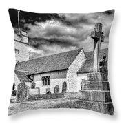 St Sannans Church Bedwellty 2 Mono Throw Pillow