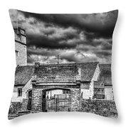 St Sannans Church Bedwellty Mono Throw Pillow