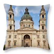 St. Stephen's Basilica In Budapest Throw Pillow