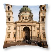 St Stephen's Basilica In Budapest Throw Pillow